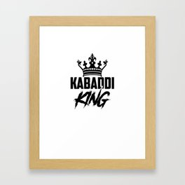 Kabaddi King Framed Art Print