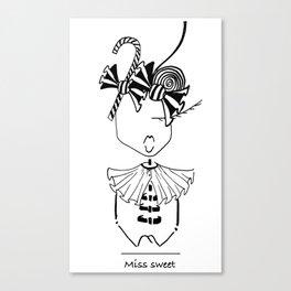 MISS SWEET Canvas Print