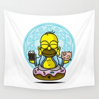 homer Wall Tapestries featuring relax hommie by aceofspades81