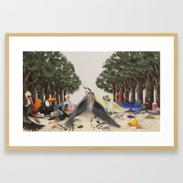 Last Bird Supper Framed Art Print