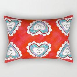 Love you bright Rectangular Pillow