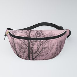 Naked trees silhouette Fanny Pack