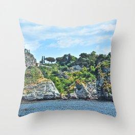Taormina, Sicily II Throw Pillow