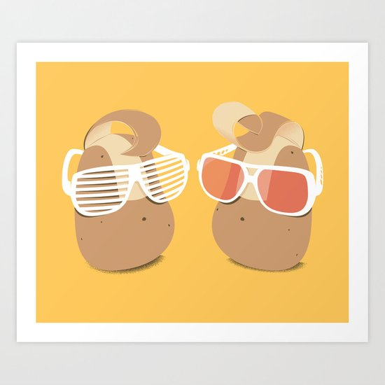 Cool Potatoes Art Print