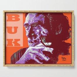 Charles Bukowski - PopART Serving Tray