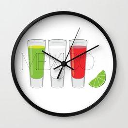 Mexico Tequila Shots Wall Clock