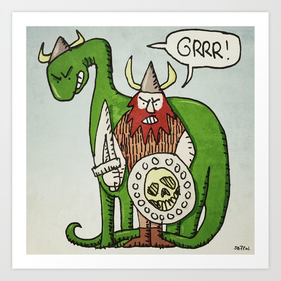 GRRR! (color) Art Print