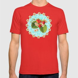 Botanical Strawberries T-shirt