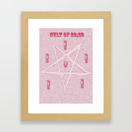 satans waitin Framed Art Print