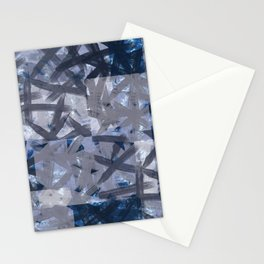 Indigo Shibori Multilayered Digital Painting Stationery Cards