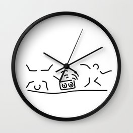 hiphop rap streetdance dancers Wall Clock