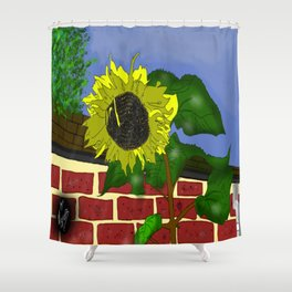 Thee Sunflower by Mgyver Shower Curtain