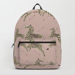 Royal Tenenbaums Zebra Wallpaper - Dusty Pink Backpack