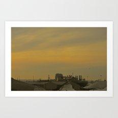 Baltimore Harbor-Dusk Art Print