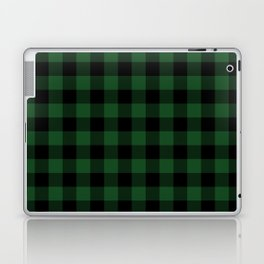 Jumbo Forest Green and Black Rustic Cowboy Cabin Buffalo Check Laptop & iPad Skin