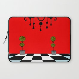 A Chandler with Topiary with Red wall paper Laptop Sleeve