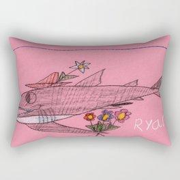 Shark Goin' A Courtin' Rectangular Pillow