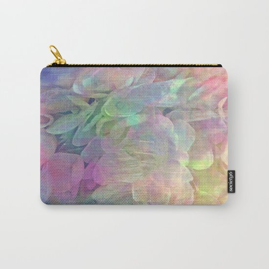 Sweet Pastel Garden Hydrangea Abstract Carry-All Pouch