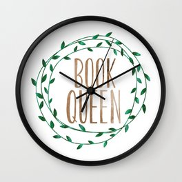 Book Queen Wall Clock