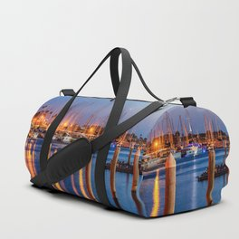 Marina Del Rey Harbor At Night Duffle Bag