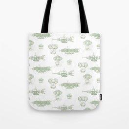 Airship Pattern Tote Bag