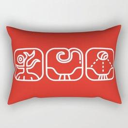 Mayan Glyphs ~ Nature Rectangular Pillow