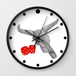 Cow Skull Snake Eyes Wall Clock