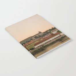 Prague Castle and Vltava river at sunset Notebook
