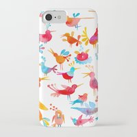 takmaj iPhone & iPod Cases featuring Birds by takmaj