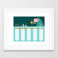 calender Framed Art Prints featuring Calender 2015: January by Loezelot