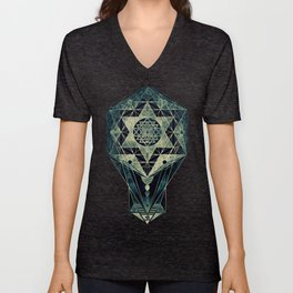 Sacred Geometry for your daily life- SRI YANTRA Unisex V-Neck