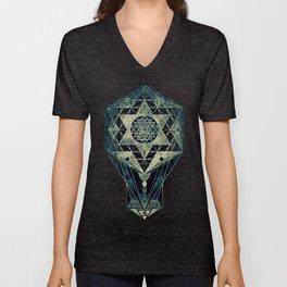 Sacred Geometry for your daily life- SRI YANTRA Unisex V-Neck