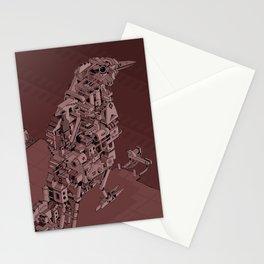 Red Bird Machine City Stationery Cards