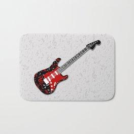Music Notes Electric Guitar Bath Mat