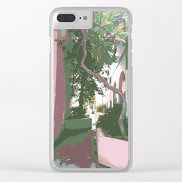Palm Tree Breezeway Clear iPhone Case