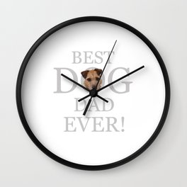 Best Dog Dad Ever! Wall Clock