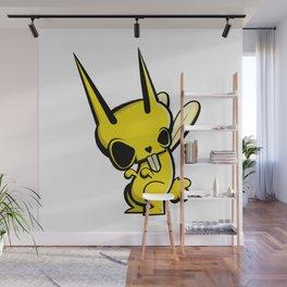 Lemon // Yellow Skull Bunny Dark Character Illustration   Wall Mural