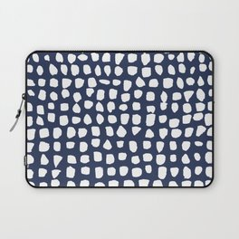 Dots / Navy Laptop Sleeve
