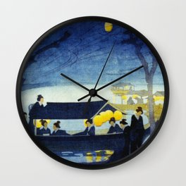 Wasen at Night - Vintage Japanese Art Wall Clock