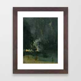 James Abbott McNeill Whistler Nocturne In Black And Gold Framed Art Print