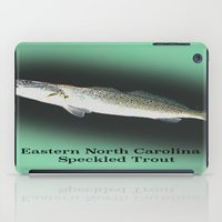 trout iPad Cases featuring Dad's Speckled trout by Kyle Ellsworth