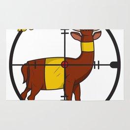 Deer Beer Bottle Cross Hair Hunter Shooting Party Bar Alcohol Gift Idea Rug