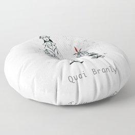 A Few Parisians by David Cessac: Quai Branly Floor Pillow