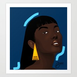 El mujer. Art Print
