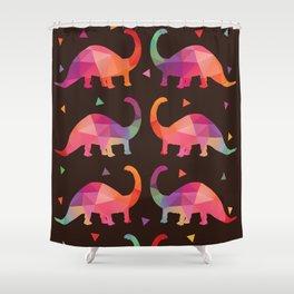 Geometric Dinosaurs Shower Curtain