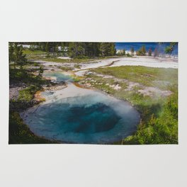 Bluebell Pool, West Thumb Geyser Basin, Yellowstone National Park Rug