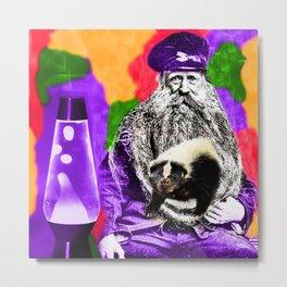 Man Beard Skunk Lava Lamp Metal Print