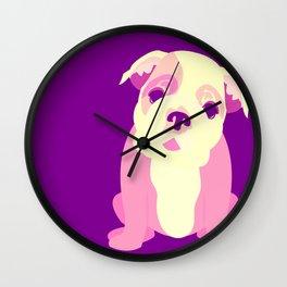 Cute Bulldog Puppy Wall Clock