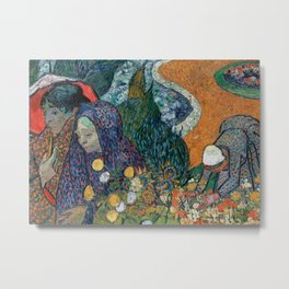 Memory of the Garden at Etten (Ladies of Arles) Metal Print