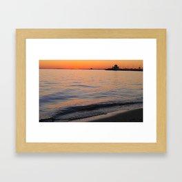 St Kilda Sunset Sea Framed Art Print